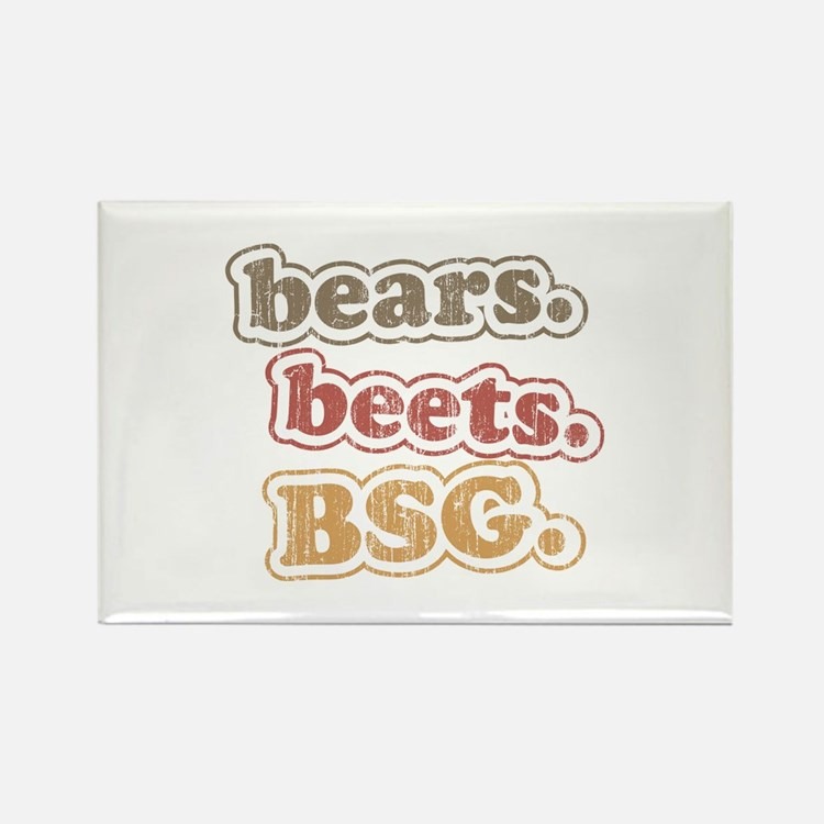 bears. beets. BSG. Rectangle Magnet