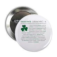 """Shamrock Definition 2.25"""" Button"""