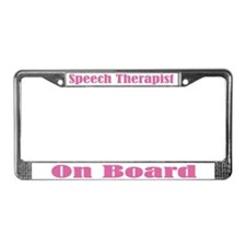 Cute Speech Therapist License Plate Frame