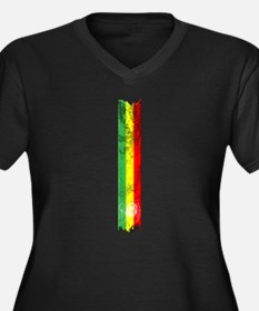 Marley flag Women's Plus Size V-Neck Dark T-Shirt