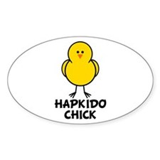 Hapkido Chick Oval Decal