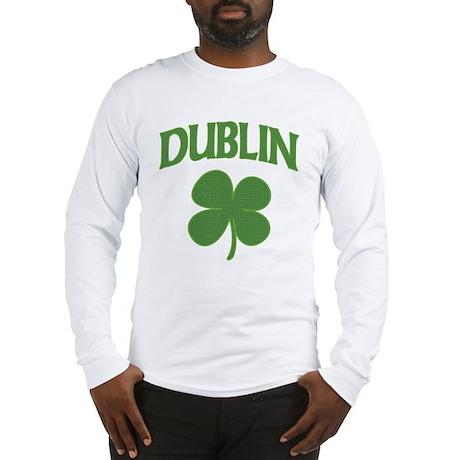 Dublin Irish Shamrock Long Sleeve T-Shirt
