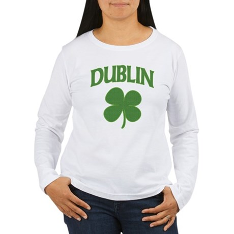 Dublin Irish Shamrock Women's Long Sleeve T-Shirt