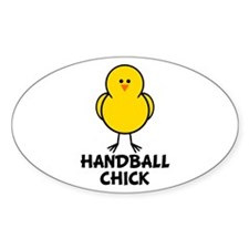 Handball Chick Oval Decal