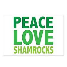 Peace Love Shamrocks Postcards (Package of 8)