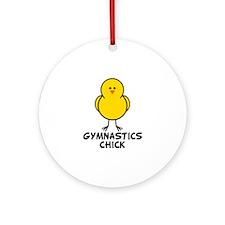 Gymnastics Chick Ornament (Round)