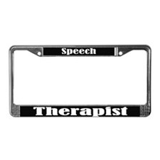 Speech Therapist Blk License Frame