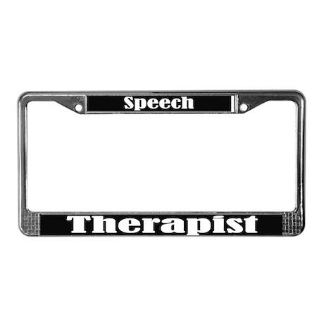 Speech Therapist Blk License Frame