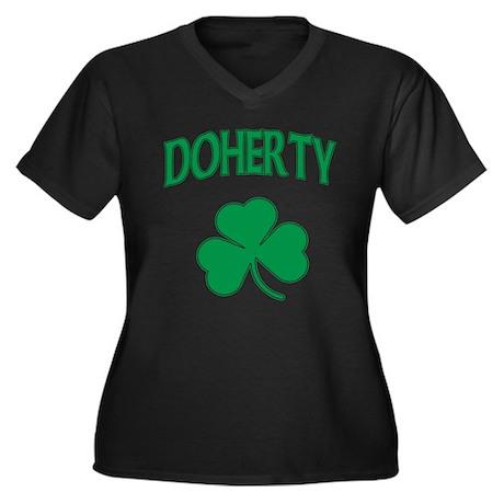 Doherty Irish Women's Plus Size V-Neck Dark T-Shir