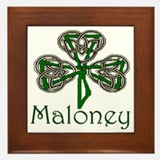 Maloney Shamrock Framed Tile