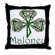 Maloney Shamrock Throw Pillow