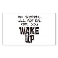 Wake Up Rectangle Decal