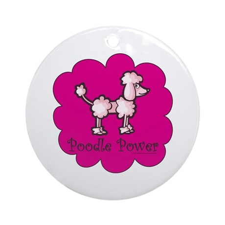 Poodle Power Ornament (Round)