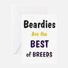 Beardies Best of Breeds Greeting Cards (Pk of 20)