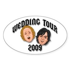 JEFFSTER! Wedding Tour Oval Decal