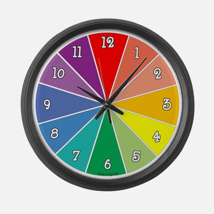 Color Time Large Wall Clock
