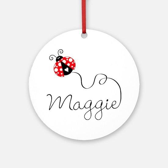 Ladybug Maggie Ornament (Round)