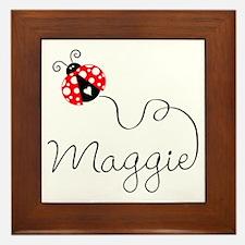 Ladybug Maggie Framed Tile