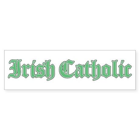 Irish Catholic Sticker (Bumper)