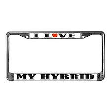 I Love My Hybrid License Plate Frame