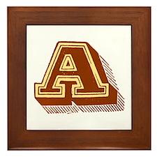 Letter A Framed Tile
