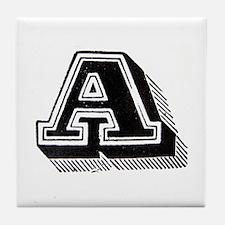 Letter A Tile Coaster