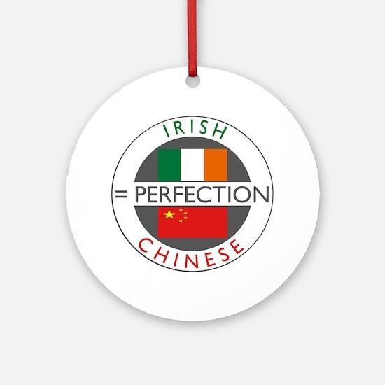 Irish Chinese heritage flag Ornament (Round)