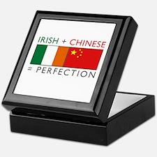 Irish Chinese heritage flag Keepsake Box