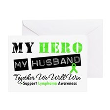 Lymphoma Hero Husband Greeting Card