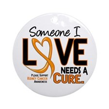 Needs A Cure 2 KIDNEY CANCER Ornament (Round)