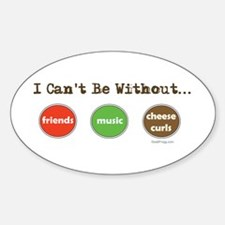 Friends Music Cheese Curls Oval Decal