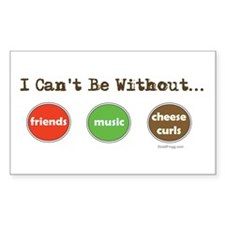 Friends Music Cheese Curls Rectangle Decal