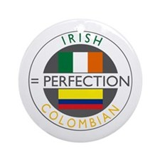 Irish Colombian heritage flag Ornament (Round)