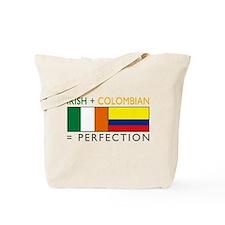 Irish Colombian heritage flag Tote Bag