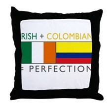 Irish Colombian heritage flag Throw Pillow