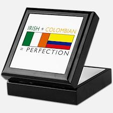 Irish Colombian heritage flag Keepsake Box