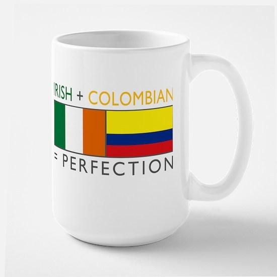Irish Colombian heritage flag Large Mug