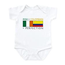 Irish Colombian heritage flag Infant Bodysuit