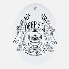 Deep Sea Brewing Co. Logo Oval Ornament