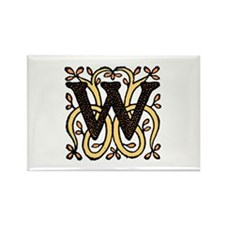 Letter W Rectangle Magnet