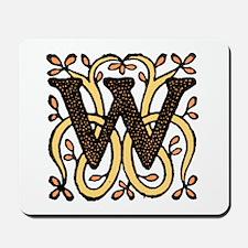 Letter W Mousepad