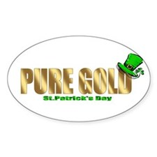 Irish Pure Gold Oval Decal