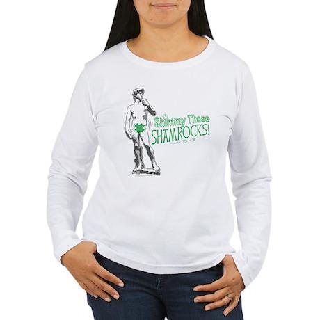 Irish David Shamrock Women's Long Sleeve T-Shirt