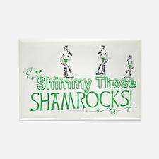 Irish David Shamrock Rectangle Magnet
