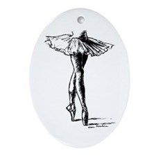 Ballet Oval Ornament