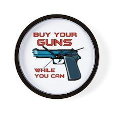 GUN MAN Wall Clock
