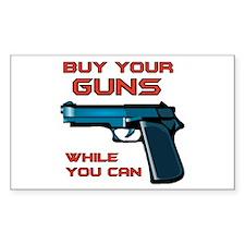 GUN MAN Rectangle Decal