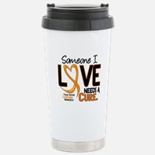 Needs A Cure 2 LEUKEMIA Travel Mug