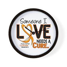 Needs A Cure 2 LEUKEMIA Wall Clock
