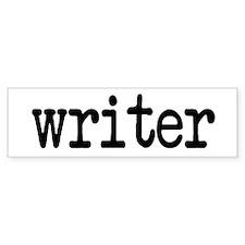 Writer Bumper Car Sticker